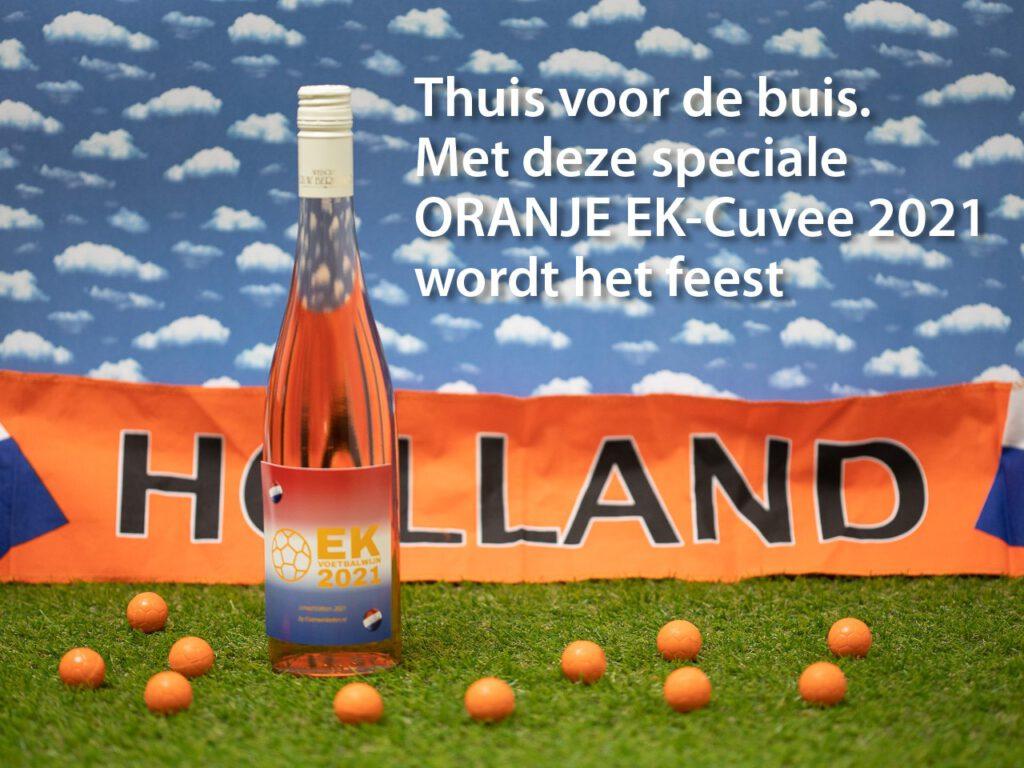 Oranje EK Voetbalwijn 2021 verkrijgbaar bij webshop www.evenwinkelen.nl